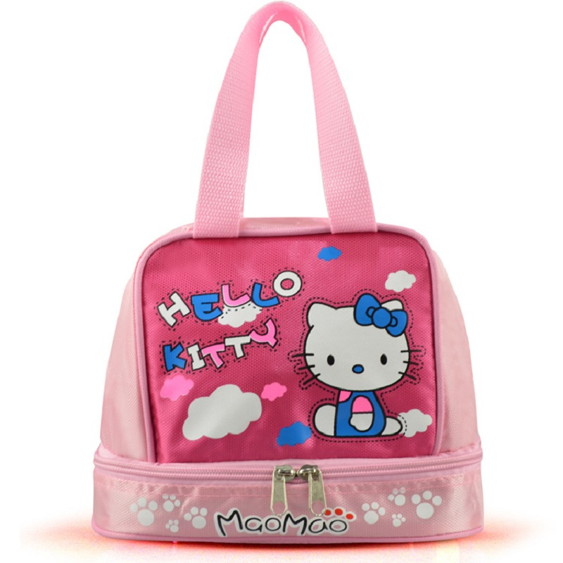New Arrivals Hello Kitty Maternity Nappy Diaper Bag Mother Bag Baby Bags Multifunctional Pink Bottle Lunch Bag