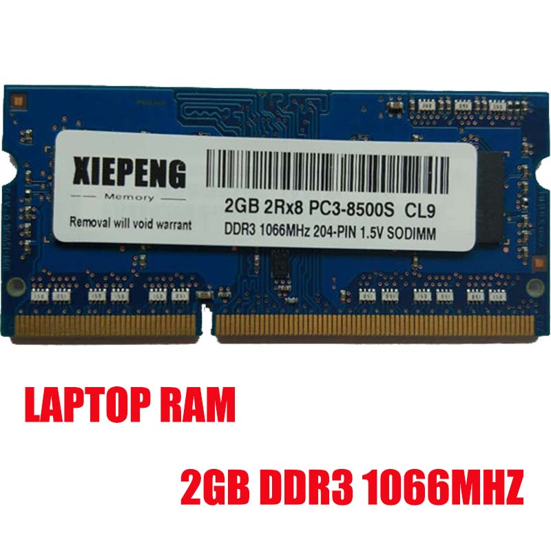 2GB 2Rx8 PC2-8500S <font><b>1066MHz</b></font> <font><b>DDR3</b></font> 4gb 1066 MHz Laptop Memory 2G pc3 8500 Notebook 204-PIN SODIMM RAM image
