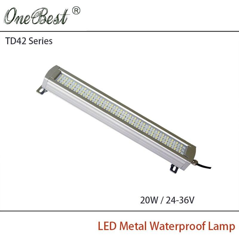 ФОТО HNTD TD42-20W 24V/36V Led Metal Panel Light CNC Machine Tool Waterproof Explosion-proof Led Astigmatism Led Work Light