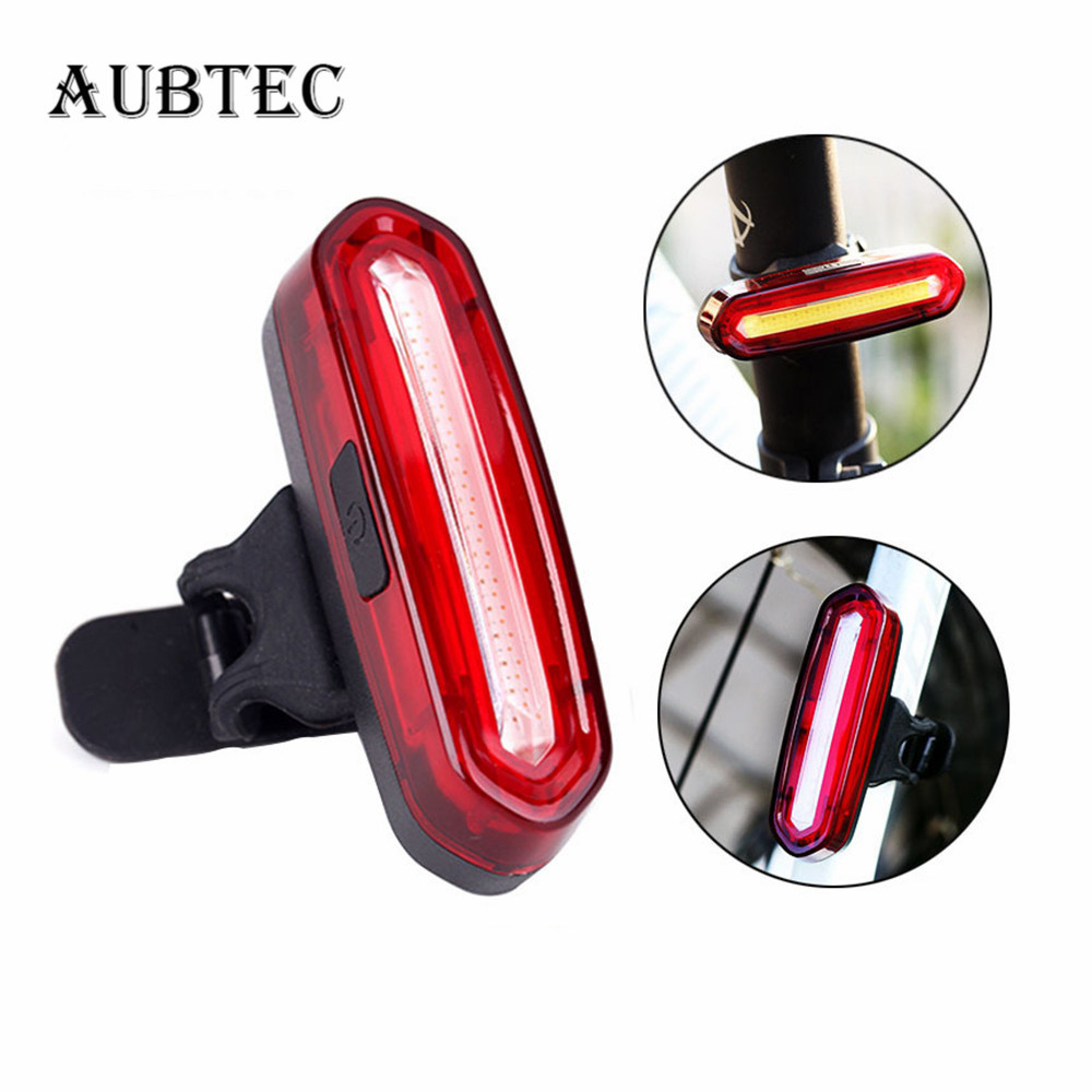 120 Lumens LED Waterproof Tail Light Bicycle Taillight for Bicycle USB Rechargeable Reflector Rear Lights Bike Lamp Accessories