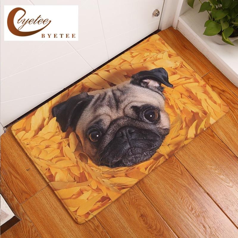 Byetee Flannel Dog Door Mats Outdoor Mat Digital