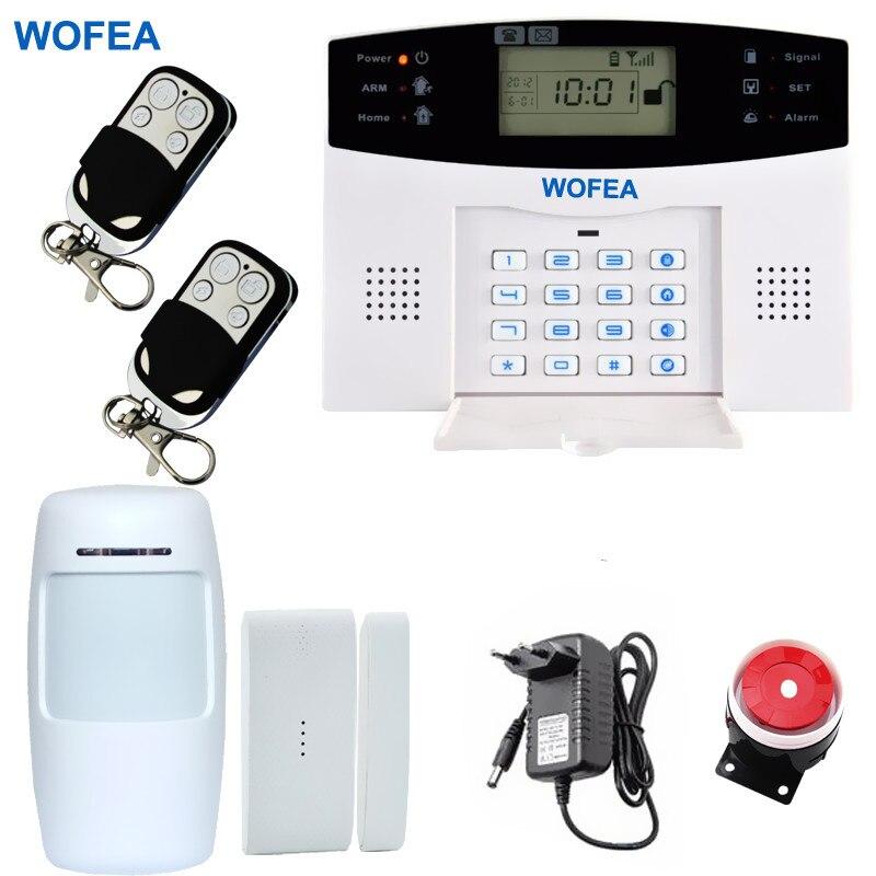 bilder für Russische Englisch Spanisch Französisch Voice gsm-alarmsystem LCD Home security alarm system Freies verschiffen