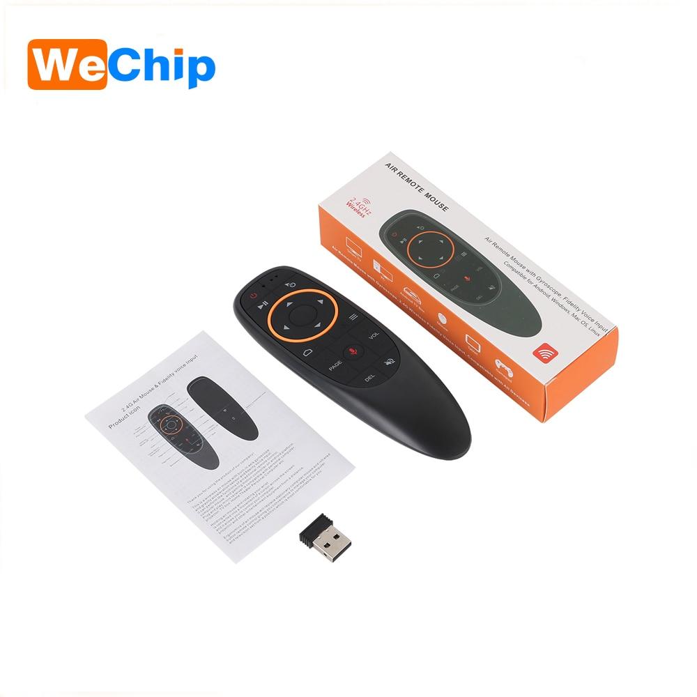 G10 2,4g voz ratón de aire de 6 ejes giroscopio Fly Mouse IR Función de aprendizaje Control remoto trabajar con Android caja de TV controlador