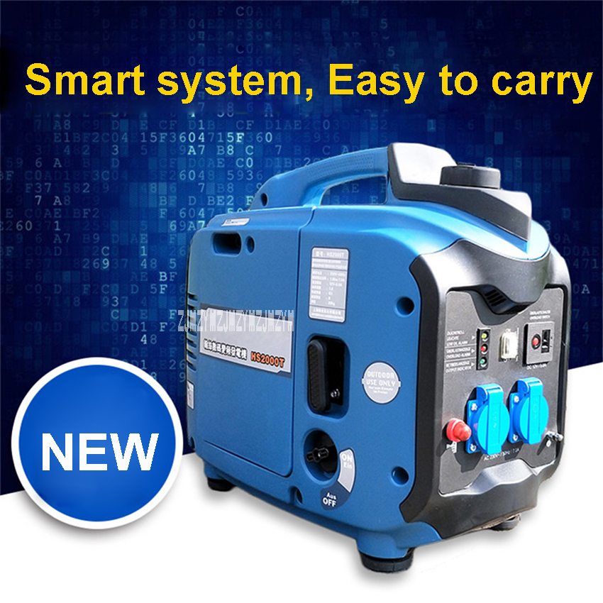 HS2000T 3.2L Portable Car Gasoline Generator 2000W 220V Electric DC Inverter Generator Digital Gasoline Powered Engine GeneratorHS2000T 3.2L Portable Car Gasoline Generator 2000W 220V Electric DC Inverter Generator Digital Gasoline Powered Engine Generator