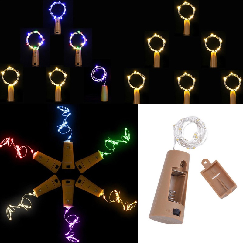 3M 30 LED Wine Bottle Lights Cork LED String Light Garland Silver Wire Fairy Lights For Glass Craft Christmas Party Decoration