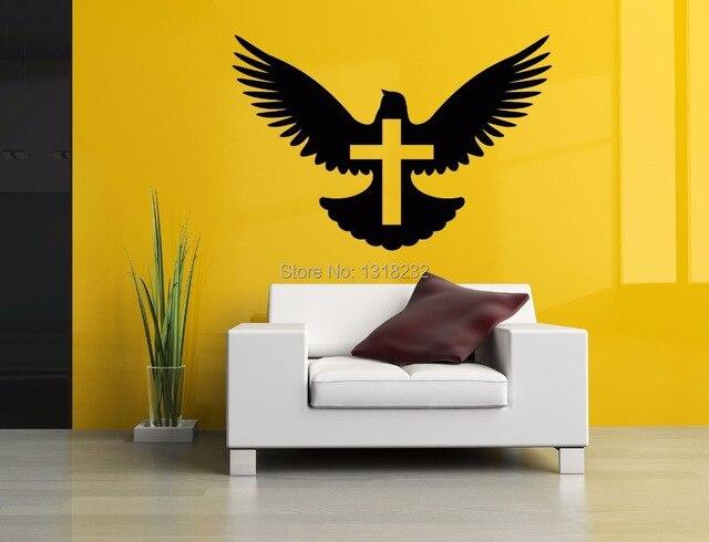 bird animal wall sticker mural pigeon bird cross vinyl wall decal