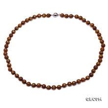 Jyx 7 75 мм коралловое ожерелье красивые круглые золотые коралловые