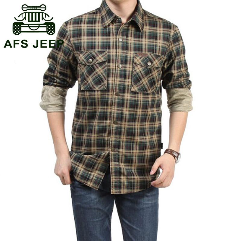 Compra camisas de lana de los hombres online al por mayor