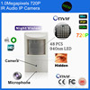 Hot Sale P2P Pir Style ONVIF 1MP Mini Pin Hole Video Ip Camera 720P Microphone 48pcs
