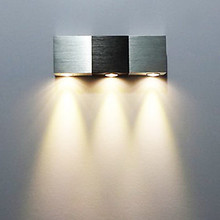 Aluminum Modern Led Wall Light Lamp With 3 Lights For Home Wall Sconce  lustre crystal modern led wall lamp lights with 1 light for home lighting lustres wall sconce free shipping