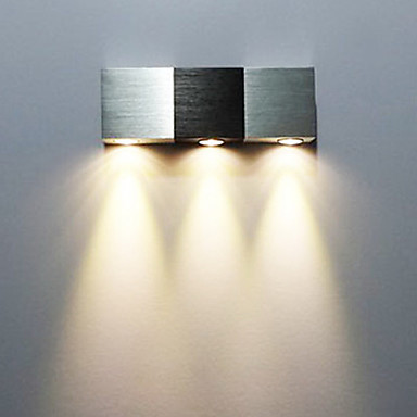 Aluminum Modern Led Wall Light Lamp With 3 Lights For Home Sconce
