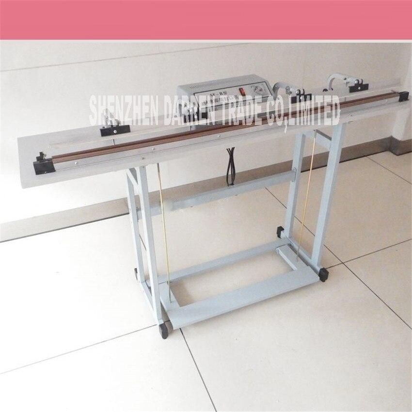 цена Stand Food Vacuum Sealer Machine Vacuum Packing Machine Film Container Food Sealer Saver Pedal Sealing Machine SF-1200 220V