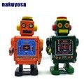 Verde color de Ingenieros Mecánicos Clockwork juguetes Estaño robot Retro Hecho A Mano de Viento Hasta Juguetes Escaparate Decoración Del Arte