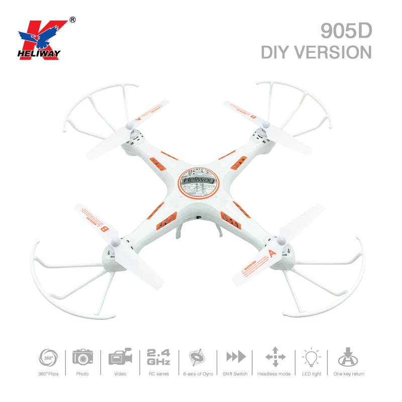 Heliway 905D DIY Version 2.4G 4CH 6Axis One Key Return RC Quadcopter RTF With Headless M ...