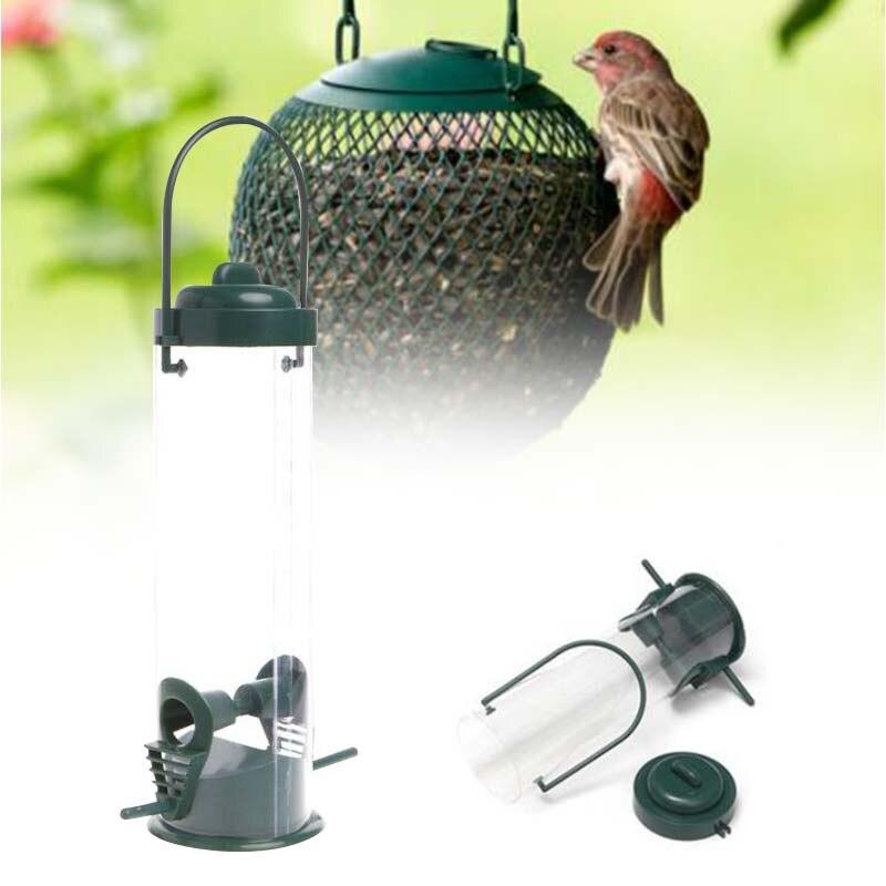 Подвесная кормушка для птиц сад для птицы Попугай Lovebird Macaws прозрачный открытый