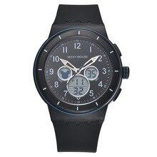 Disney relojes deportivos para niños kids boy reloj digital de Sílice azul negro Mickey Mouse impermeable número Luminoso MK-15032