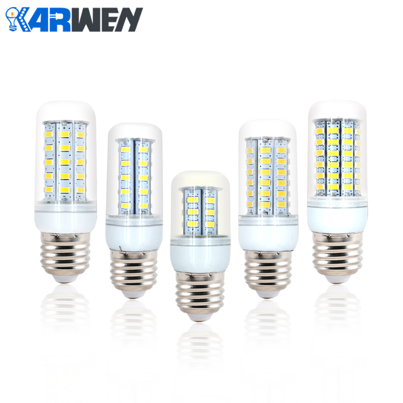 KARWEN LED Lamp E27 220v 240v SMD5730 bombilla Led Corn Light Bulb 24 36 48 56 69Leds Chandelier Candle Lighting Pendant Light