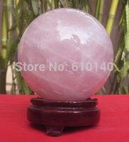 0000000r88Q00 AAA 1535G NATURAL ROSE QUARTZ CRYSTAL SPHERE BALL Healing