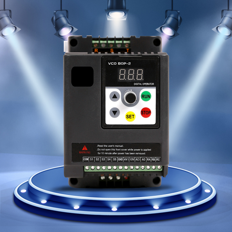 NEW 2 2kw Single Phase AC220V 3 Phase AC380V Frequency Inverter VFD Adjustable Speed Drive CNC