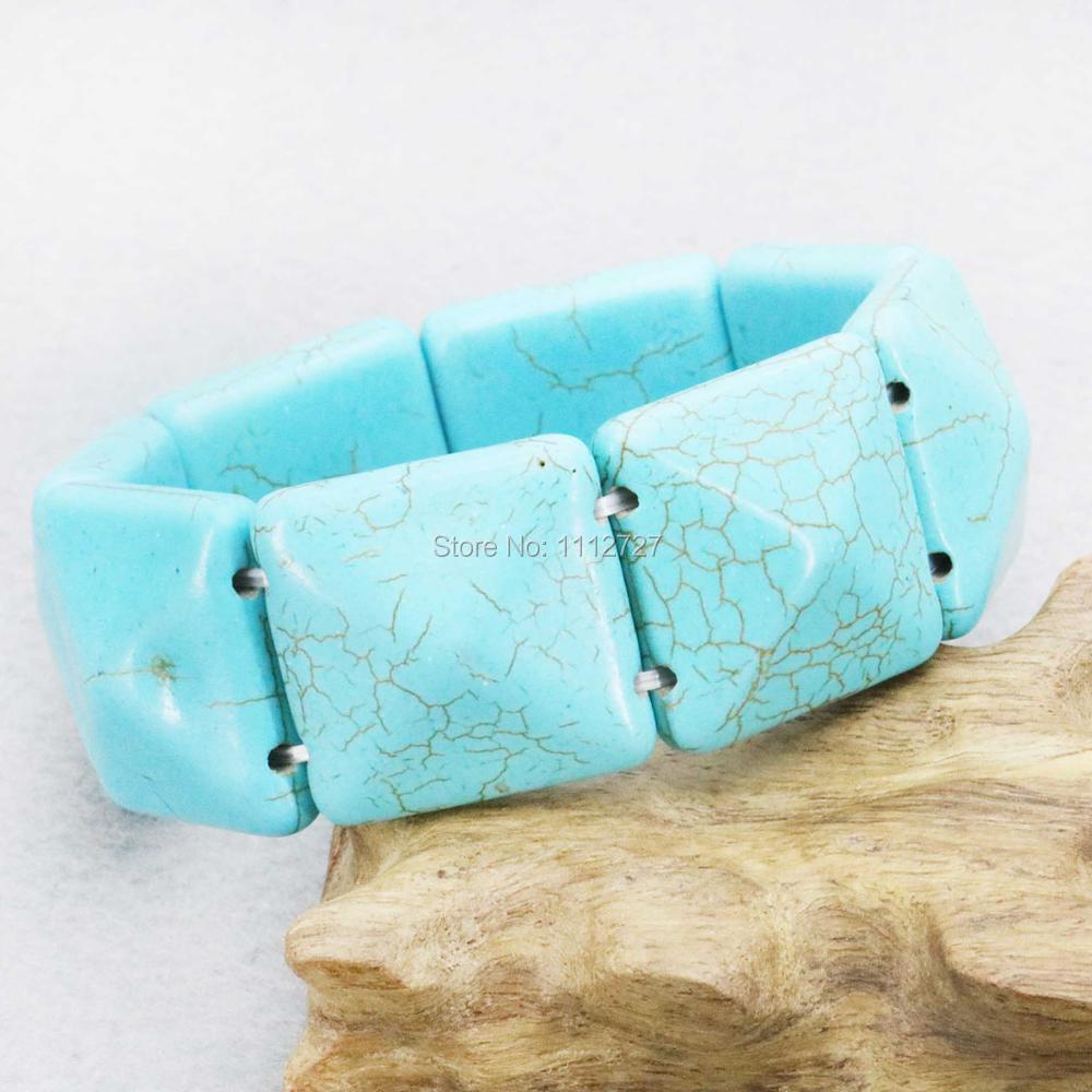 25mm Lucky Turkey Howlite Chalcedony Semi Finished Stone Bracelet Beads Wrist Jewelry Making Design Women Girls Gifts Fitting
