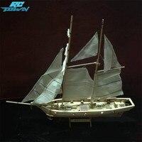 RCtown 1:100 Ölçekli Ahşap Ahşap Yelkenli Gemi Kitleri Ev DIY Model Ev Dekorasyon Tekne Hediye Oyuncak Çocuklar için zk30