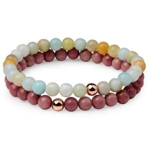 6mm Bead Natural Stone Bracelet for Women Men Lovers Bracelet Jewelry Gift