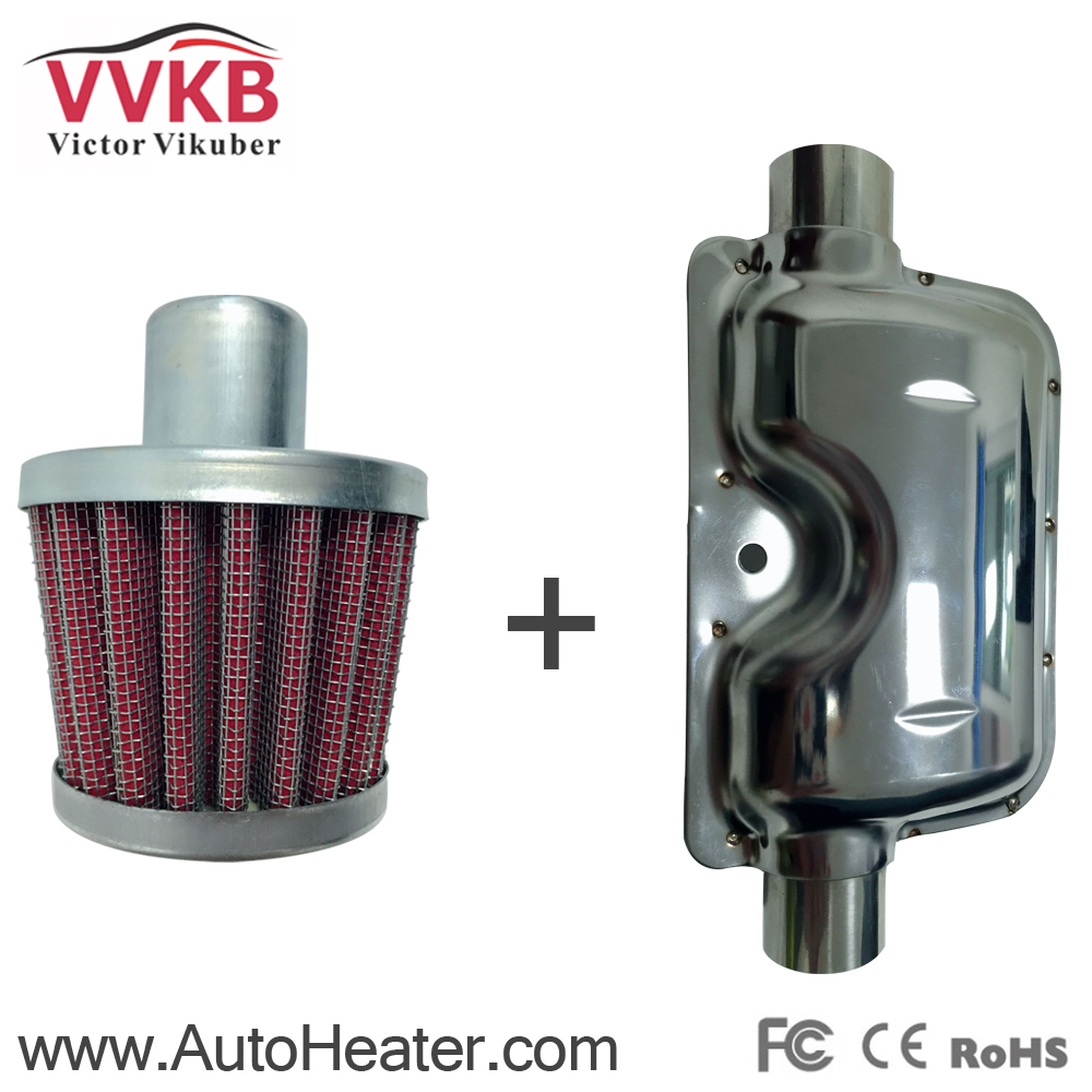 ФОТО High Quality Intake silencer and Exhaust muffler for Diesel  Heaters (Free shipping)
