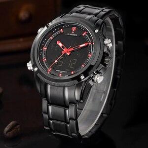Image 2 - שעונים גברים NAVIFORCE מותג ספורט מלא פלדת קוורץ אנלוגי LED שעון Reloj Hombre צבא צבאי שעוני יד Relogio Masculino