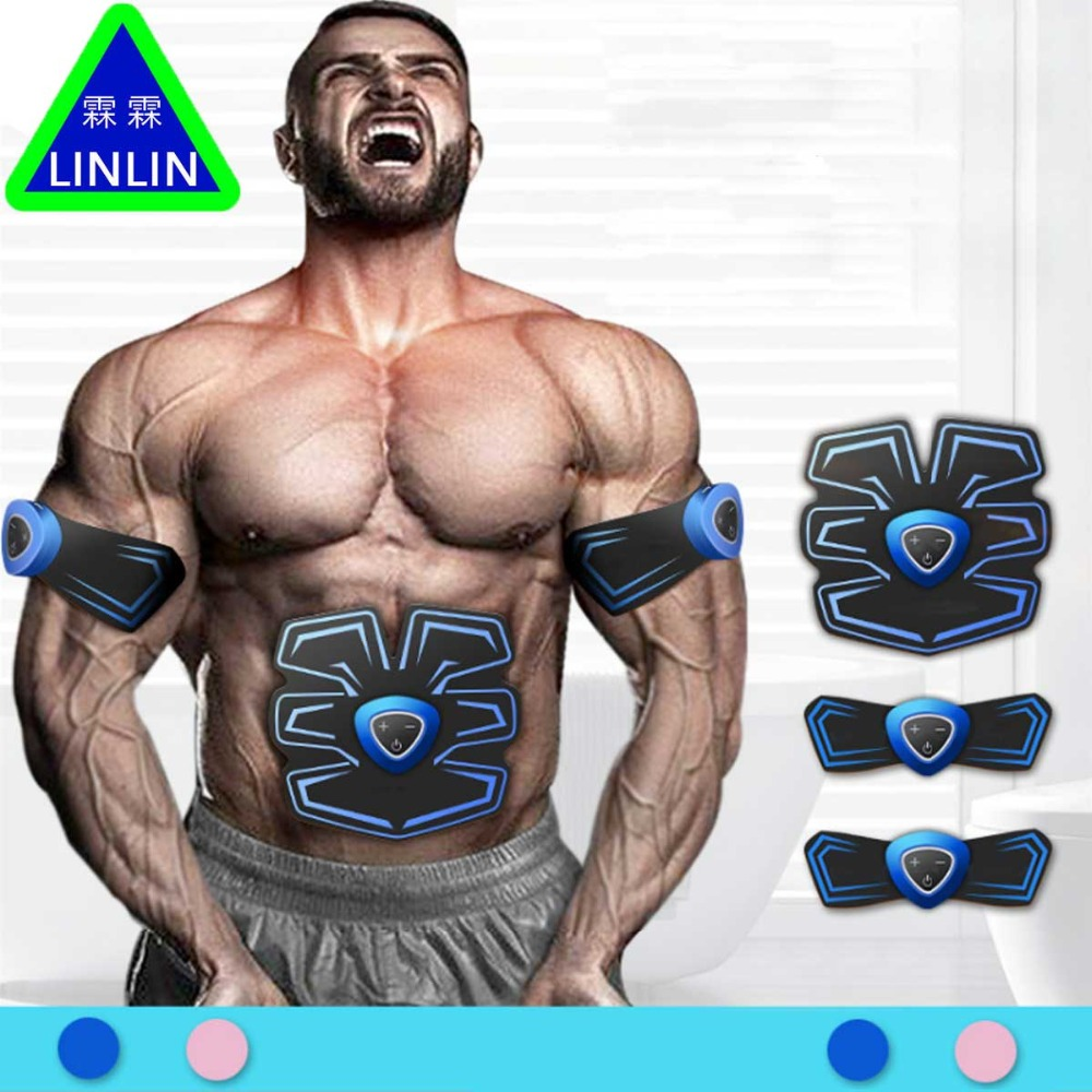 LINLIN Abdominal muscle sticking  Intelligent Lazy Bodybuilder  Black Technology Thin Belly Artifact  Slimming apparatus Massage