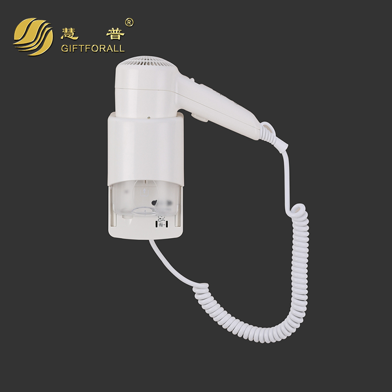 GIFTFORALL Household Hotel professional Wall-Mounted Hairdryer Euro Hot/Cold Air Unfoldable Handle Blower Dryer 67290 giftforall hair dryer hotel bathroom home professional hair salon powerful wall mounted portable mini hairdryer d139 d