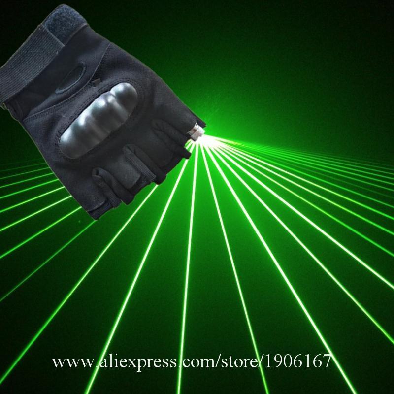 2016 Jaunais 532nm gaismas zaļais Lasermans parādīt DJ cimdus ar 1 - Svētku piederumi
