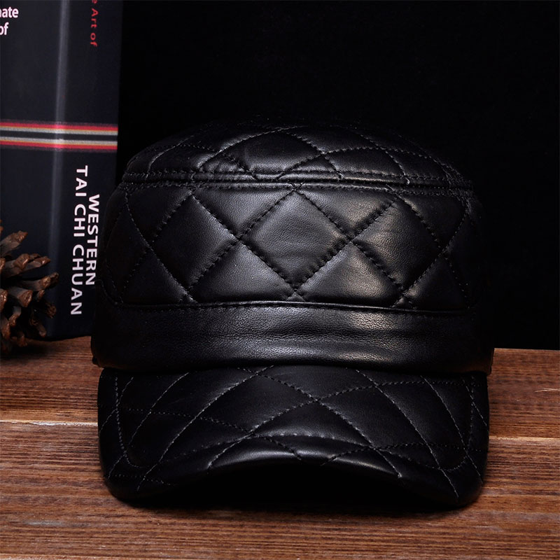 HL031 MEN'S genuine leather baseball cap hat brand new leather caps hats bfdadi 2018 new arrival hat genuine