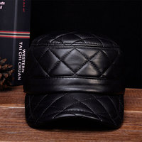 HL031 MEN'S genuine leather baseball cap hat brand new leather caps hats
