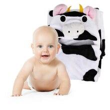 Baby Bath Towel Animal Shape Flannel Cartoon Hooded Bath Towel Babies Blanket Kids Hooded Bathrobe Toddler Baby Bath Towel