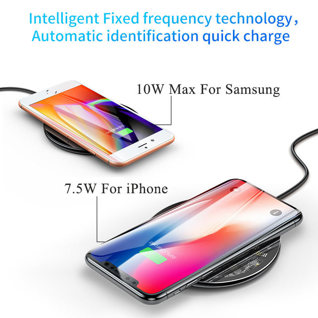 Baseus 10W Qi Wireless Charger for iPhone X/XS Max XR 8 Plus Visible Element Wireless Charging pad for Samsung S9 S10+ Note 9 8 2