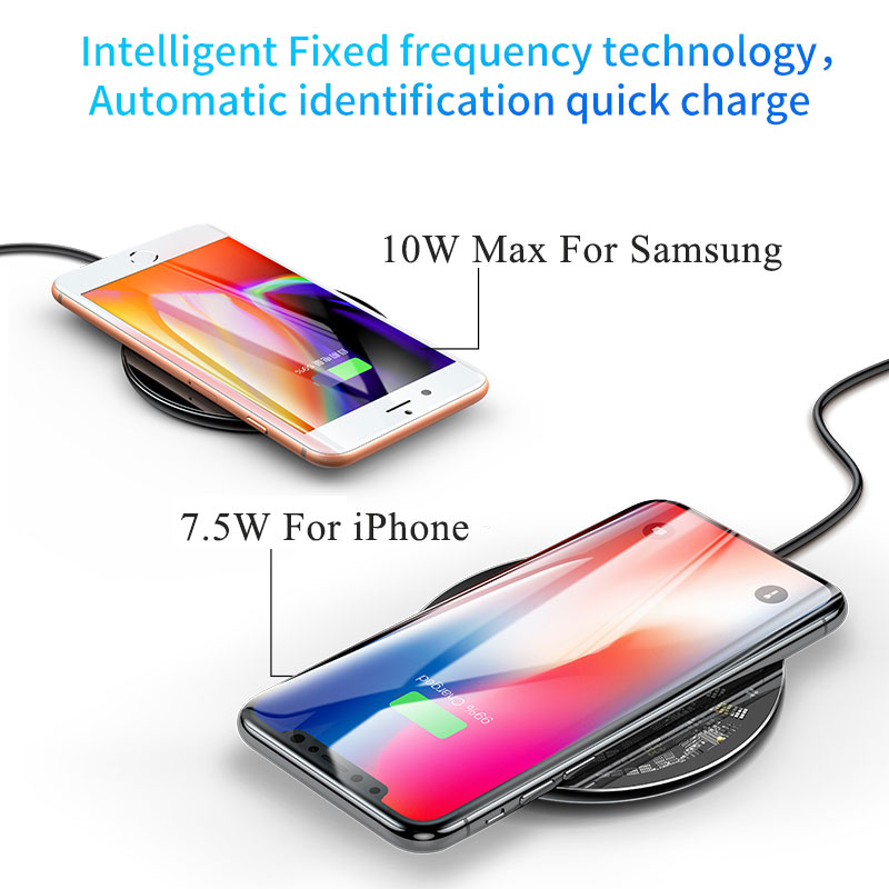 Image 3 - Baseus 10W Qi Wireless Charger for iPhone X/XS Max XR 8 Plus Visible Element Wireless Charging pad for Samsung S9 S10+ Note 9 10-in Mobile Phone Chargers from Cellphones & Telecommunications