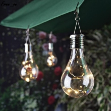 Hanging Solar LED Light Bulb Wireless Rotatable Waterproof Outdoor Garden Camping Tree Decoration