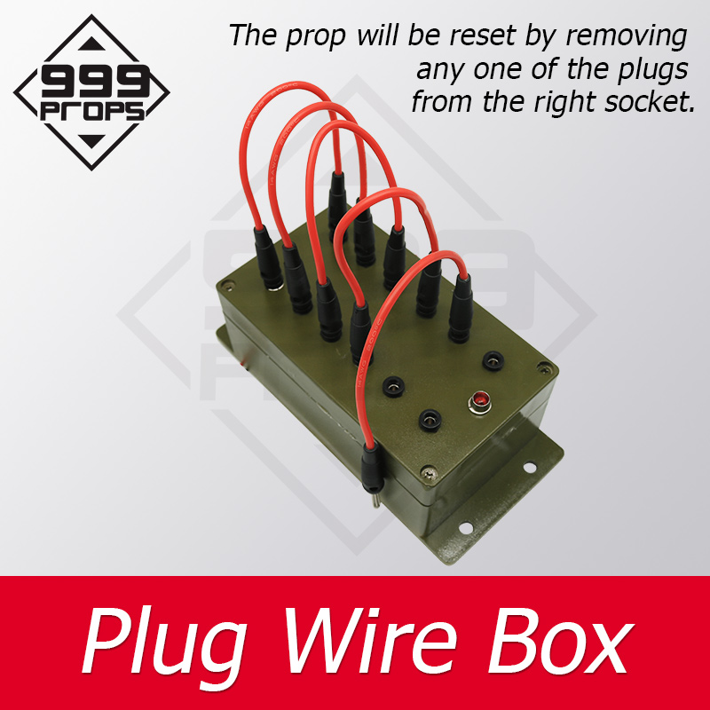 999PROPS Escape Room Takagism Game Props Plug Wire Box All The Wires Are Inserted Into The Right Sockets To Unlock Charmber Room