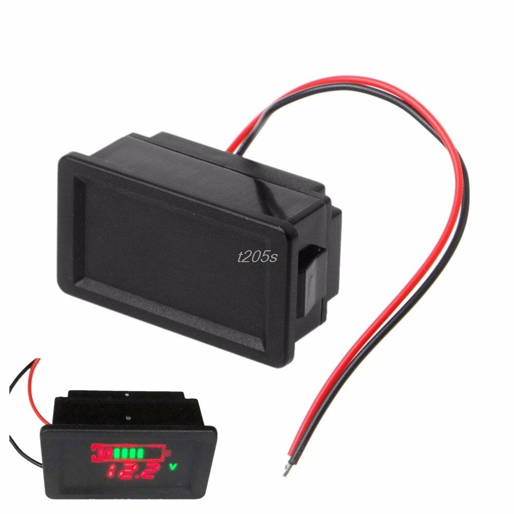Waterproof 12V Lead-Acid Battery Status Capacity LED Display Indicator Voltmeter Digital Meters Tester Tools Q01 Dropship