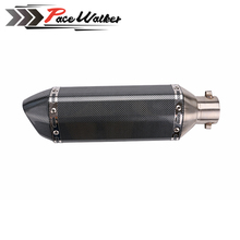 universal Carbon 51mm Motorcycle Modified gy6 Exhaust Scooter Muffler Exhaust For CBR CBR125 CBR250 CB400 CB600 YZF FZ400 Z750