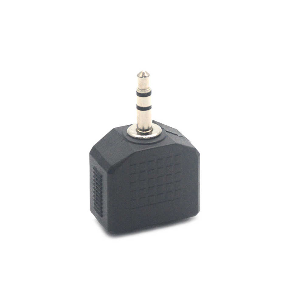 Mini Stereo 3.5mm Audio Jack Male to Dual 3.5mm Female Double Earphone Headphone Y Splitter Adapter Plug for MP3 Phone