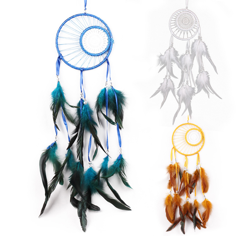 Dream Catcher Home Decor white Feather Dreamcatcher Wind Chimes Indian Style Religious Mascot Car or Wall Decoration