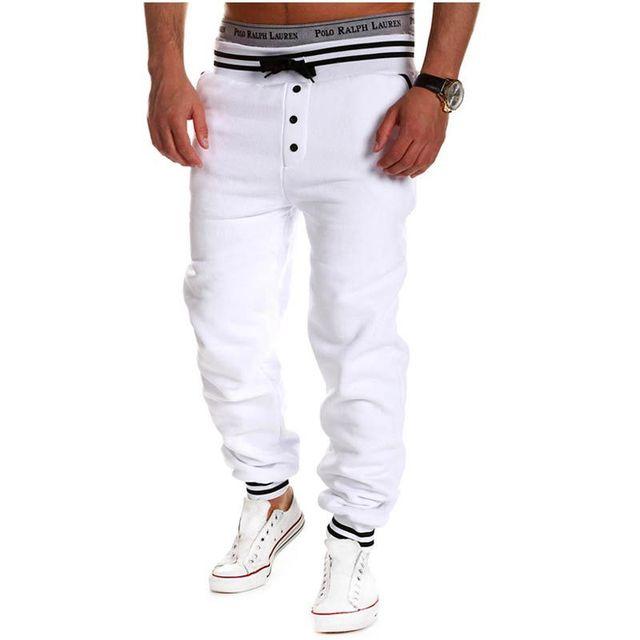 Contrast Color Elastic Men's Pants 2