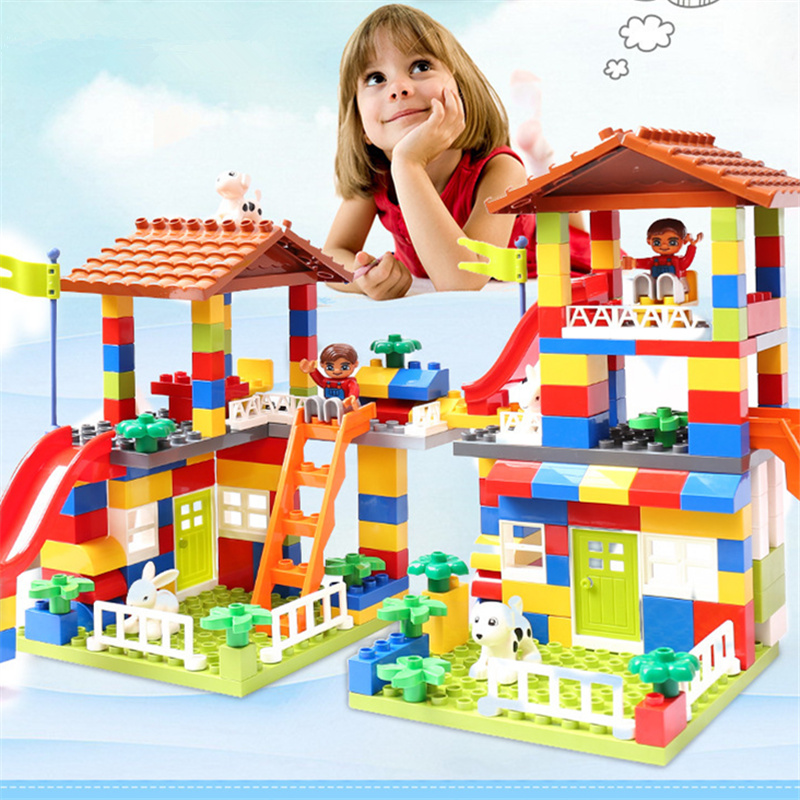 Image result for colorful city blocks house roof toy