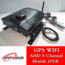 CMSV6 through star platform remote 8-channel MDVR hard disk car WiFi remote video monitoring GPS real-time positioning car hard disk video recorder supports 2t hard disk 128g memory card storage ahd4 road mdvr direct sales