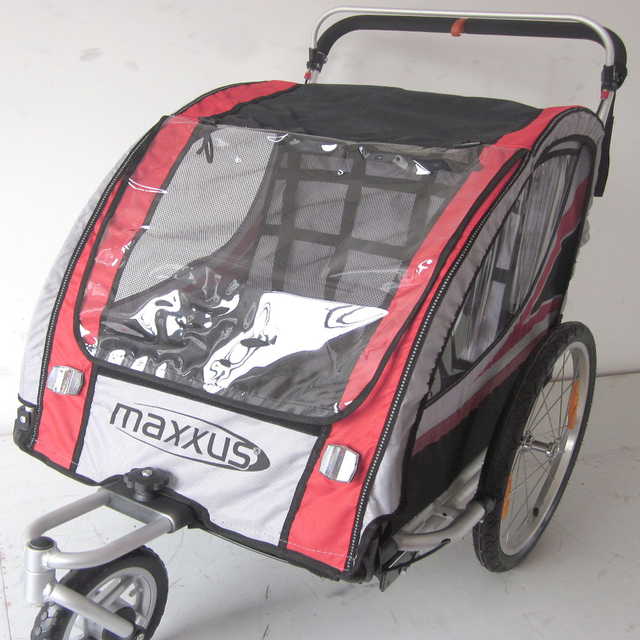 20 inch quick release air Wheels and Aluminum Alloy Frame baby Jogger,use for 2 kids, 2 in 1 function
