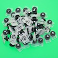 50PCS Door Inner Trim Fixed Fastener Clips With Holder For VW Golf GTI Jetta mk6 Passat B7 Polo Beetle Caddy A4 Q3 7L6 868 243