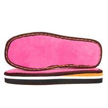 Домашние тапочки ручной вязки «сделай сам» с подошвой из плюшевой резины, резиновой подошвой «кроше»; домашние тапочки для мужчин и женщин; нескользящая подошва