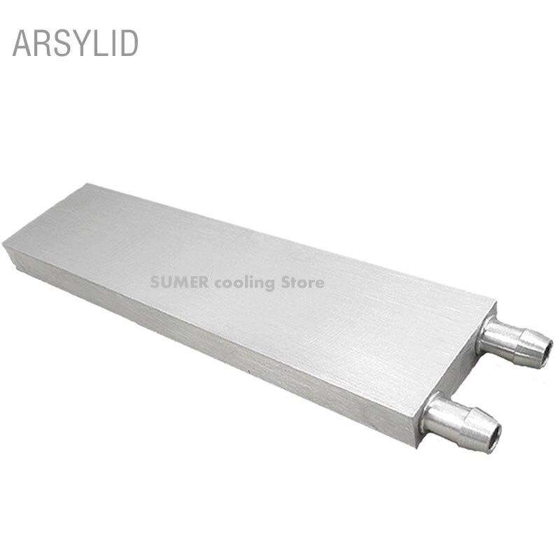 Aluminium CPU Kühler 40*40*12mm 80 120 160 200mm Wasser Kühlung Kühler Kühlkörper Block Flüssigkeit kühler Für CPU GPU PC Laptop