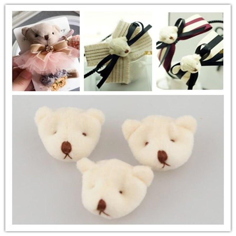 Ручной работы украшения DIY продаж с головой медведя для ручной DIY рукоделия Материал Бесплатная доставка 20 шт./лот